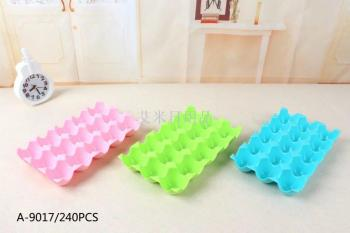Egg 15/24 squares of thick plastic stacking storage boxes shatterproof kitchen refrigerator egg box
