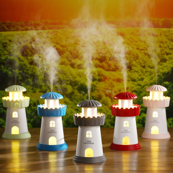 Mute the creative beacon humidifier ultrasonic atomization night light diffuser Air Purifier