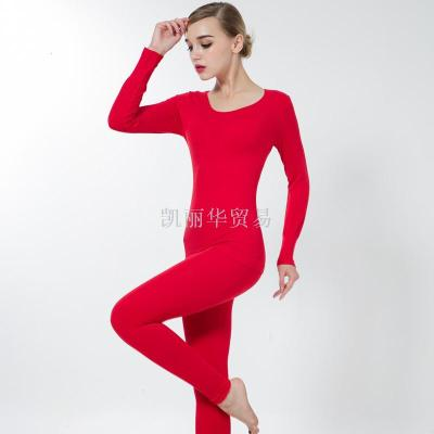 Seamless slimming body suits lingerie set of self the Korean version of thermal underwear