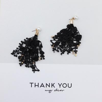 DIY handmade jewelry Korean Pearl Stud Earrings diamond earrings weave bud silk flow Su Er ornaments