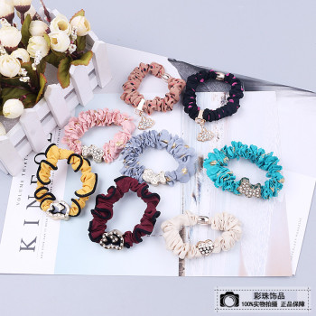 Flower jewelry cloth hair accessories hair tie rope ponytail hair temperament simple string ornaments