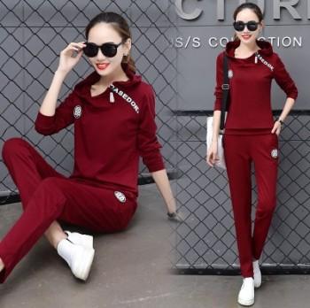 Ladies ' Autumn Sweater mm loose fat slim leisure suit fashion sportswear two-piece