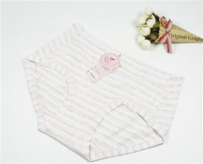 Girls organic cotton striped fashion briefs underwear factory direct-mail