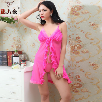 Foreign trade chest plush fun Pajamas clear temptation sexy underwear sexy sundresses factory outlet