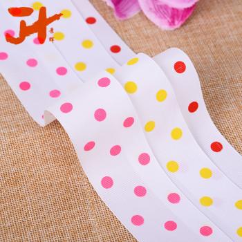 12 rib belt printing premium ribbons printed dot Ribbon DIY handmade jewelry tiara hair accessories material