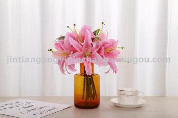 Artificial flower bouquets wedding supplies Lily Hua Juan flowers