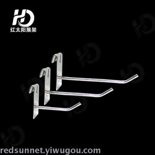 P5 network straight hook plated commercial display hooks