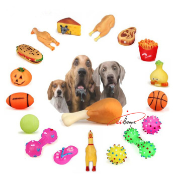 Pet Dog Puppy Chew Toys Anti Bite Squeaker Squeaky Sound Cute Ball Vegetable Chicken Dogs Toy Pet Product