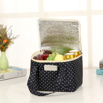 Large Oxford cloth heat preservation bag lunch bag color square outdoor ice cold picnic bag