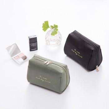 Simple nylon waterproof hand held stereo travel cosmetic bag small portable storage bag