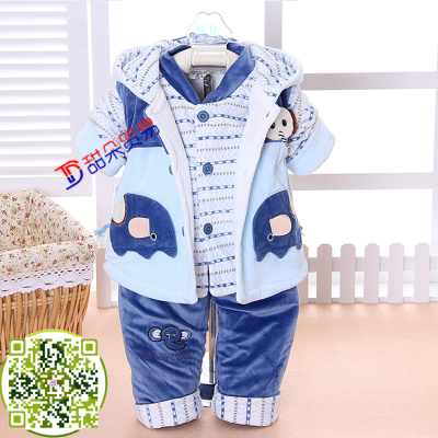 Red mud rabbit newborn winter cotton-padded jacket with a thick cotton jacket for winter clothing