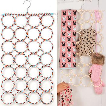 Paper vine rack 28 scarves scarf belt slip with shelf magic hangers