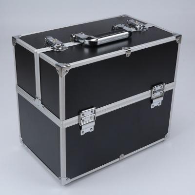 Guan Yu The New Aluminium Mobile Beauty Case Multi Layer Nail Tools Storage Box Double