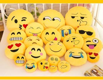 QQ expressions doll emoji face pillow cushion plush toys 32cm