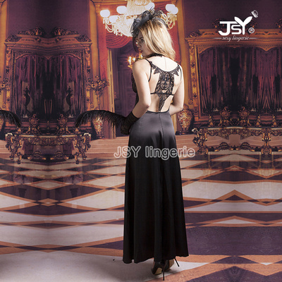 Sexy Pajamas long skirts dance performance black backless trade factory outlet 9795