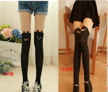 BA68XX in spring and autumn the new Footless high dark stitching silk stockings sexy pantyhose woman