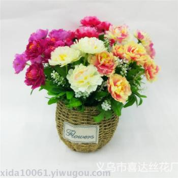 Artificial flower plastic spring and peony flowers home decoration wedding decoration