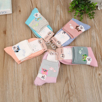Cotton cat women's solid color socks stockings cartoon owls women high cheap socks stall socks silver pantyhose