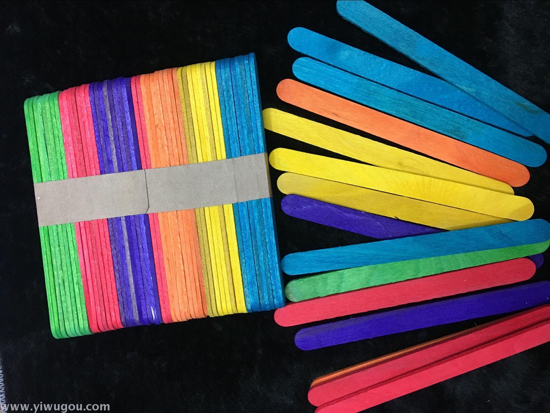 4cm儿童手工制作材料木制雪糕棒 冰棍棒_智力