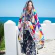 Synthetic-geometric fashion wild scarf