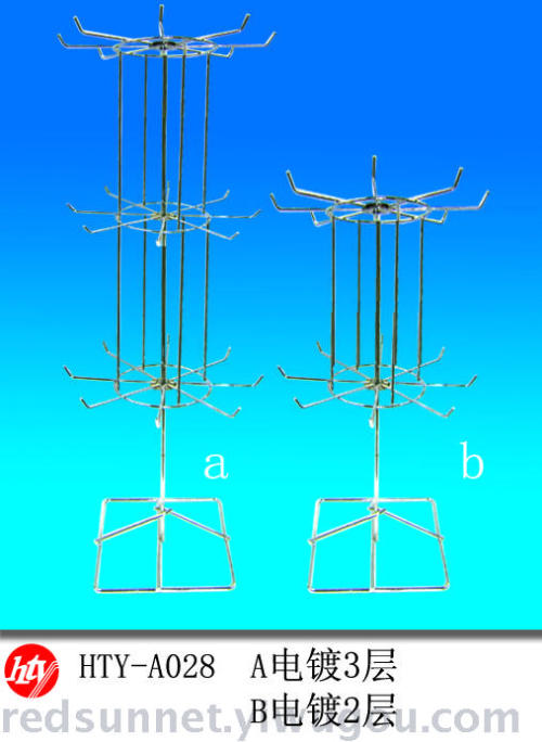 Electroplating promotional Desk accessories 3 layer 2 layer ornament display stands