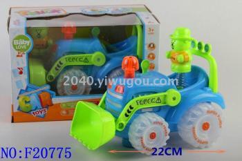 Electric universal light and sound cartoon farmer car baby toys educational IntelliSense toy wholesale