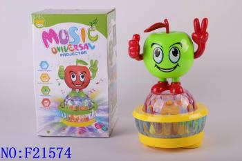 Electric Apple toys teach baby early Intelligent Sensing electronic musical toys wholesale