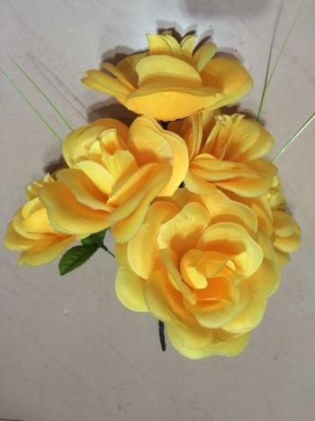 7 tea rose artificial flower silk flower decoration flower flower arrangement flower flower factory outlet