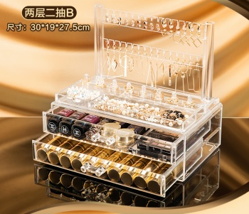 Transparent acrylic earrings ear nail storage box jewelry necklace display stand earrings jewelry boxes jewelry boxes