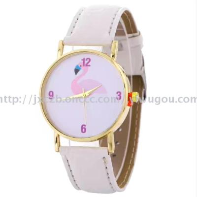 September new leather strap watch American pattern ladies watches