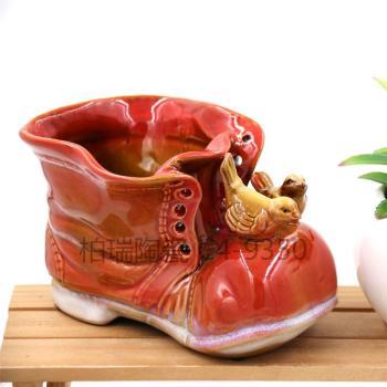 Four-color pottery ornaments shoes