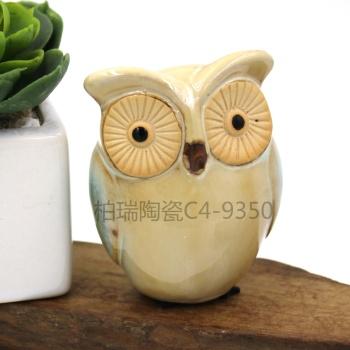 Creative crafts living room decoration study decorative ornaments ceramic OWL