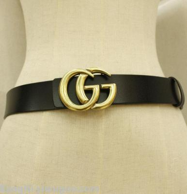 Explosions g two double layer cowhide belt in autumn fashion men's and casual style Joker jeans