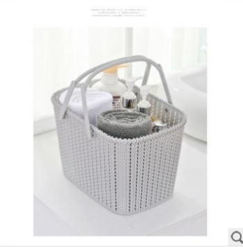 New last plastic hand rattan storage basket, storage basket-like desktop storage basket arrangement basket
