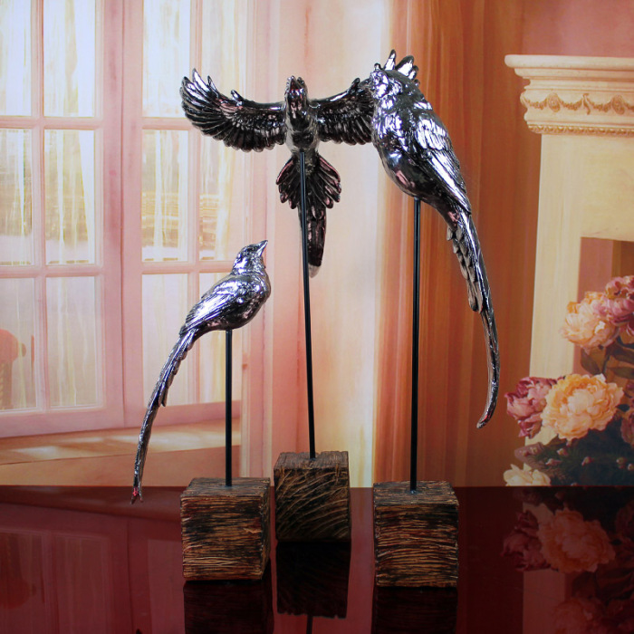 欧式复古家居饰品树脂工艺品动物鹰摆件创意礼品客厅送礼装饰品
