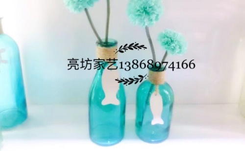 Creative marine series vases glass crafts