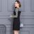 Ladies ladies fall 2017 new slim long sleeve romper dress plus size two piece dress