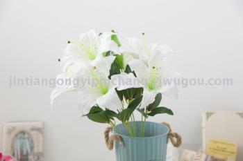 Juan of lily flowers indoor decoration home decoration artificial flower wedding supplies