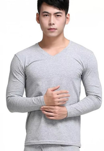 New thin Lycra cotton man fall clothing pure cotton suit long Johns warm base base underwear cotton sweater