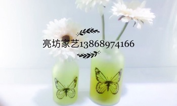 Spring series Butterfly vase/glass crafts