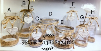 Love flower glass decorative gifts/crafts/desktop/water bottle/glass bottles