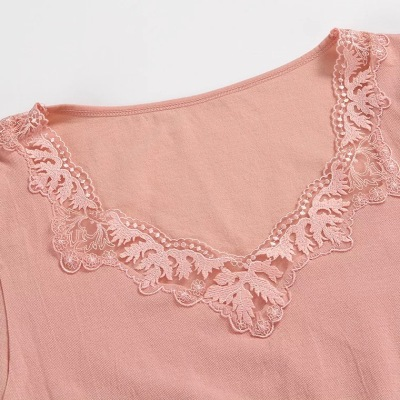 Lady autumn winter embroidery seamless clothing long Johns thermal underwear set nylon/cotton body underwear wholesale