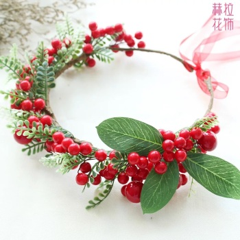 Hera manual simulation Berry Christmas Wreath ornaments European and American bridal flower wedding decorations