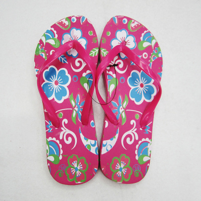 Manufacturers produce flat flowers ladies and flip-flops custom logo