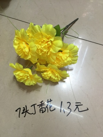 Simulation Daisy silk flowers artificial flowers 7 bright flower lilac