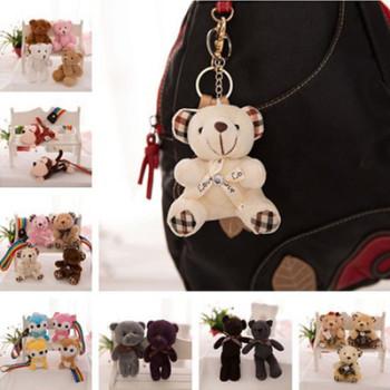Plush teddy bear doll bear phone bag key chain Korean joint Xiong Taidi bear pendant