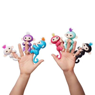 Colorful monkey finger monkey baby monkey holding electronic tactile toys for children