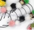 Korean hair accessories fireball into cute Ribbon jewelry gift celebration birthday party hair hoop headwear