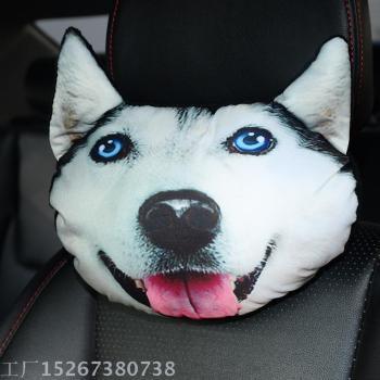 3D cartoon cute animals, Car headrest pillow neck pillow plush toys, automotive interior products