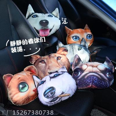 3D cartoon cute animals, Car headrest pillow neck pillow plush toys, automotive interior products
